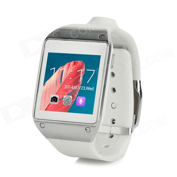 "Android 4.2.2 Dual-core Smart Watch w/ 1.6"" Screen, Wi-Fi, GPS, ROM 4GB - Grayish White"