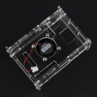 Raspberry Pi V31 Version Acrylic Case + Cooling Fan - Transparent + Black