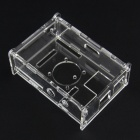 V31 Version Acrylic Case + Cooling Fan for Raspberry Pi - Transparent + Black