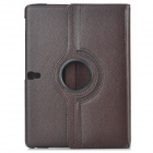 360' rotary Flip aberto PU couro caso w / Stand para 10,5 ' Samsung Galaxy Tab S T800 / T805 - Brown