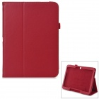 Flip-open Litchi Pattern PU Leather Case w/ Holder for 10.1'' Samsung Galaxy Tab 4 T530 T531 - Red