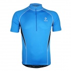 ARSUXEO AR665 Cycling Sweat-absorbing Quick-dry Short-sleeve Polyester Jersey Top - Blue (Size L)