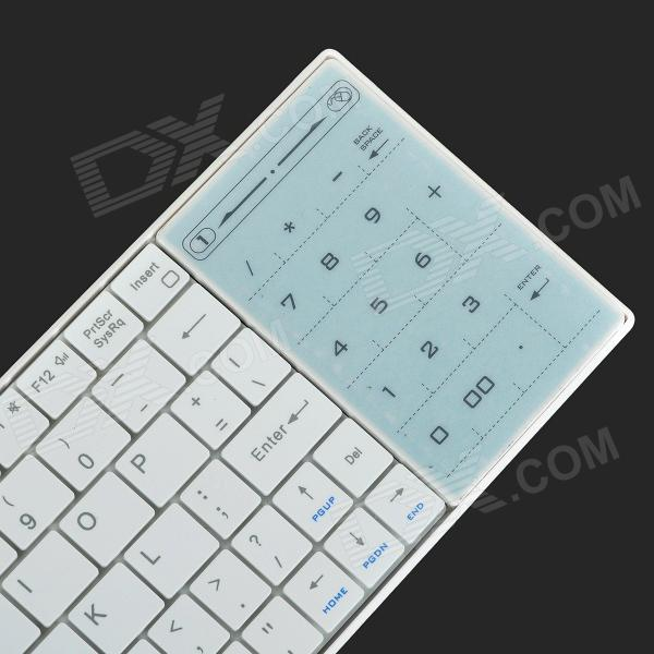display bluetooth keyboard with touchpad for android tablet draaien ook goed
