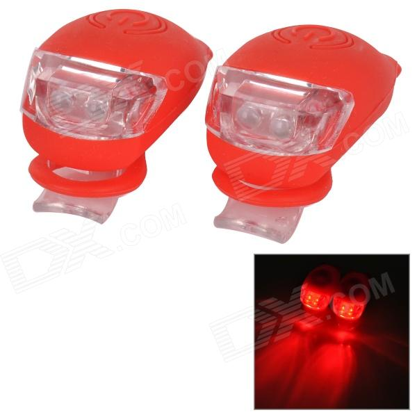 Tadpole Shape Outdoor Bicycle Bike Red Light LED Warning Light - Red (2 PCS / 2 x CR2302)