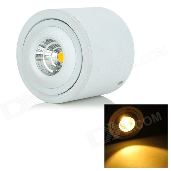 YouOKLight 8W 525lm 3500K 1-COB LED Warm White Rotatable Embedded Ceiling Lamp - White (AC 100~240V) youoklight 8w 485lm 3500k 1 cob led warm