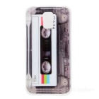Cassette Pattern Protective Plastic Back Case for Samsung Galaxy S5 - White + Black + Multicolored