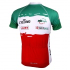 TOPCYCLING SAD210 Sweat-absorbing Quick-dry Short-sleeve Zipper Top for Cycling - Red + Green (L)