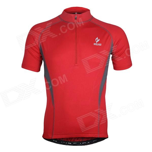 ARSUXEO AR665 Polyester Cycling Short-sleeve Top - Red (Size XXL) rtm876 665