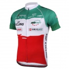 TOPCYCLING SAD210 Men's Cycling Sweat-absorbing Short Sleeves Jersey Top - Red + Green (XL)