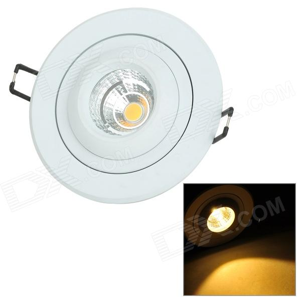 YouOKLight 8W 505lm 3500K 1-COB LED Warm White Rotatable Embedded Ceiling Lamp - White (AC 100~240V) youoklight 8w 485lm 3500k 1 cob led warm