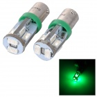 SENCART BA9S 4W 50lm 560nm 10-SMD 5730 LED Green Light Car Lamp - Silver (2PCS / 12~16V)