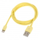 MFi Power4 8-Pin Lightning Male to USB 2.0 Male Cable for IPHONE / IPAD / IPOD - Yellow (100cm)