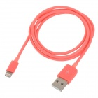 MFi Power4 8-Pin Lightning Male to USB 2.0 Male Cable for IPHONE / IPAD / IPOD - Red (100cm)