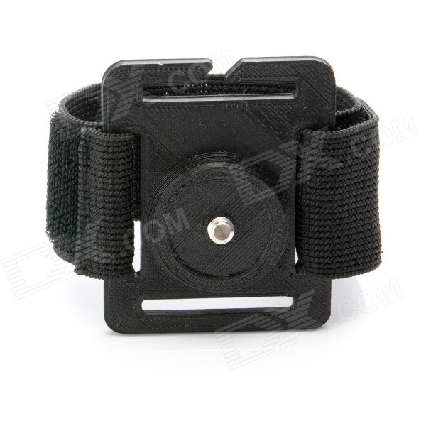JUSTONE 3D Printing 1/4 Wristband Mount for Camera / GoPro Hero 4/2 / 3 / 3+ / SJ4000 - Black