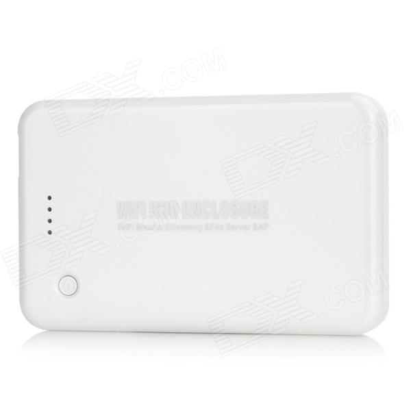 "BS-U25WF USB 3.0 Wi-Fi Hard Disk Drive Enclosure w/ Router for 2.5"" SATA HDD - White (1TB)"