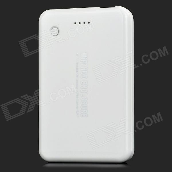 fr p bs uwf usb  wi fi hard disk drive enclosure w router for sata hdd white tb