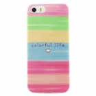 Ultra Thin Colorful Life Back Case Cover for IPHONE 5 / 5S - Pink + Multicolored