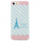 Ultra Thin Eiffel Tower Pattern Back Case Cover for IPHONE 5 / 5S - White + Blue