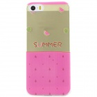 Ultra Thin Summer Watermelon Back Case Cover for IPHONE 5 / 5S - Transparent + Pink