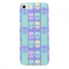 Ultra Thin Skull Pattern Back Case Cover for IPHONE 5 / 5S - Cyan + Multicolored