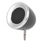 Universal Cute Mini 3.5mm Jack External Speaker for Cellphone - Black + Silver