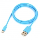 MFi Power4 8-Pin Lightning Male to USB 2.0 Male Cable for IPHONE / IPAD / IPOD - Blue (100cm)