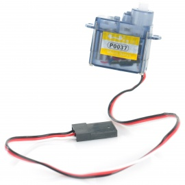 P0037 DIY Plastic + Iron Steering Engine Servo for R/C Toy - Light Blue + White (4.8~6.0V)