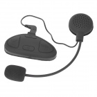 Helmet Mounted Vanntett Bluetooth-mikrofon Walkie Talkie System Headset for Motorsykkel - Svart
