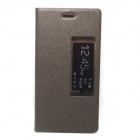 Stylish Flip-open PU Leather Case w/ Stand / Auto Sleep for HuaWei Ascend P7 - Brown