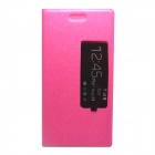 Stylish Flip-open PU Leather Case w/ Stand for HuaWei Ascend P7 - Deep Pink