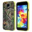 Leaf Pattern Protective Plastic Back Case for Samsung Galaxy S5 - Yellow + Brown + Multi-Colored