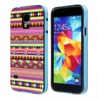 Calico Aztec Indians Tribe Pattern Retro Vintage Back Cover Case for Samsung Galaxy S5 - Blue