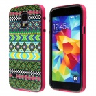 Calico Aztec Indians Maya Tribe Pattern Retro Vintage Back Cover Case for Samsung Galaxy S5
