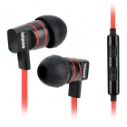 ipipoo ip-A200Hi 3.5mm In-Ear-Ohrhörer w / Mikrofon / Remote - Schwarz + Rot