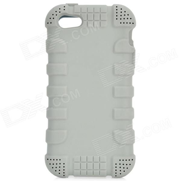 Protective Silicone Back Case for IPHONE 5 / 5S - Grey