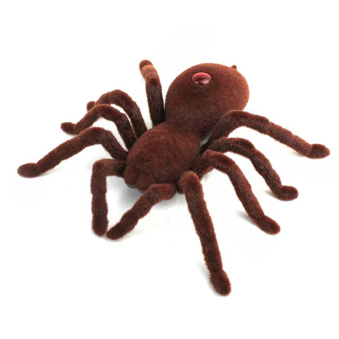 2-CH Infrared Remote Control Spider Toy - Brown (2 x AA)