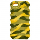 Protective Silicone Back Case for IPHONE 5 / 5S - Yellow + Green