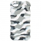 Protective Silicone Back Case for IPHONE 5 / 5S - Grey + White