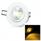 MLSLED MLX-COBTH-1-3 3W 240lm 3500K 1-COB LED Warm White Ceiling Light - White + Silver (AC 85~265V)