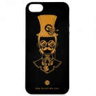 LOFTER AA010175 Punk Pattern Protective TPU Back Case for IPHONE 5 / 5S - Black + Golden