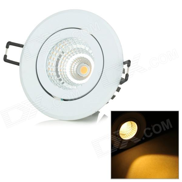 YouOKLight 8W 485lm 3500K 1-COB LED Warm White Rotatable Embedded Ceiling Lamp - White (AC 100~240V) youoklight 8w 485lm 3500k 1 cob led warm