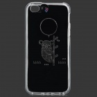 Panda Pattern Protective Plastic Back Case w/ Flashing Light for IPHONE 5 / 5S - Transparent
