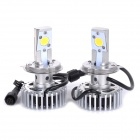 HONSCO H4 24W 1800lm 5000K L/H Cool White Light LED Car Headlight Kit (DC12~18V / 2 PCS)