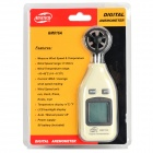 BENETECH GM816A Portable Digital Wind Speed Meter Anemometer - White + Black (9V / 1 x 6F22)