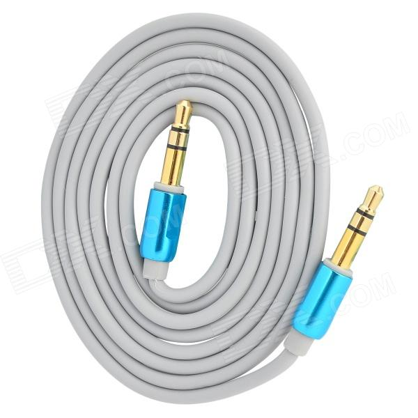 D&S DSM8109  3.5mm Male to Male Stereo Aux Car Audio Cable - Gray + Royal Blue (100cm)