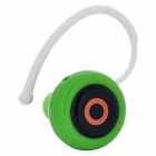 Eye Style Bluetooth V3.0 Music Headset w/ Microphone - Green + Black