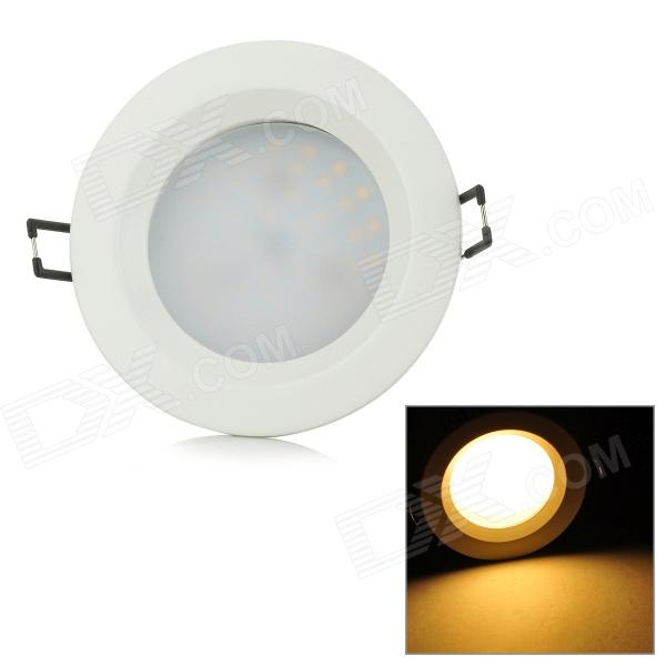 YouOKLight 9W 674lm 3500K 48-SMD 2835 LED Warm White Embedded Ceiling Lamp - White (AC 100~240V) youoklight 8w 485lm 3500k 1 cob led warm