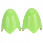 Yayusi A520 Fashion 6W USB Speakers w/ Light - Green + White (2 PCS)