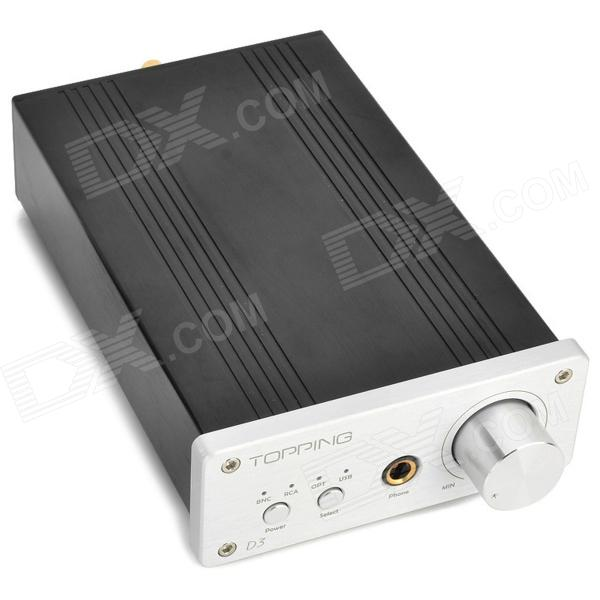 GARNITURE D3 192KHz DAC décodeur / amplificateur de casque - Black + Silver