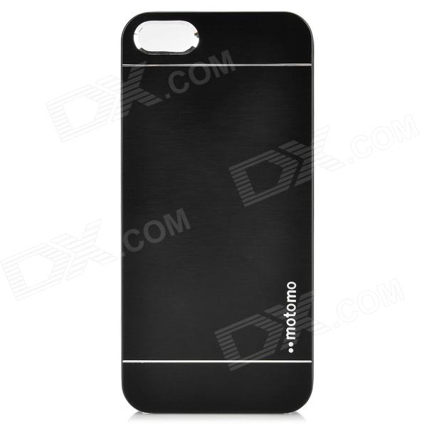 Fashion Protective Zinc Alloy Back Case for IPHONE 5 / 5S - Black